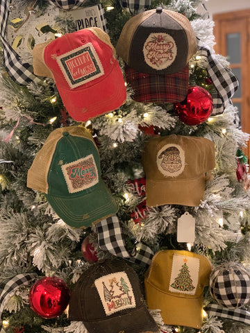 Printed Patch Christmas Caps