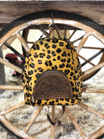 Wild and Free Leopard Cowhide Backpack