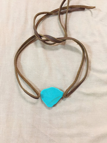 Cancun Vacay Leather Choker