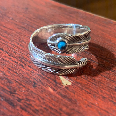 Feather Drop Ring