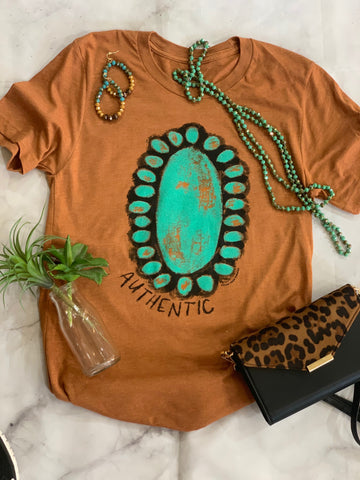 Authentic Turquoise Tee