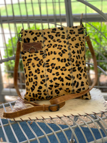 Gold Leopard Hide Crossbody