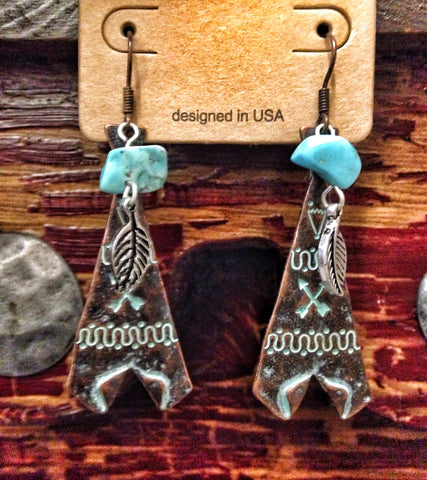 Creepy TeePee Earrings