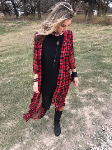 Mad About Plaid Duster