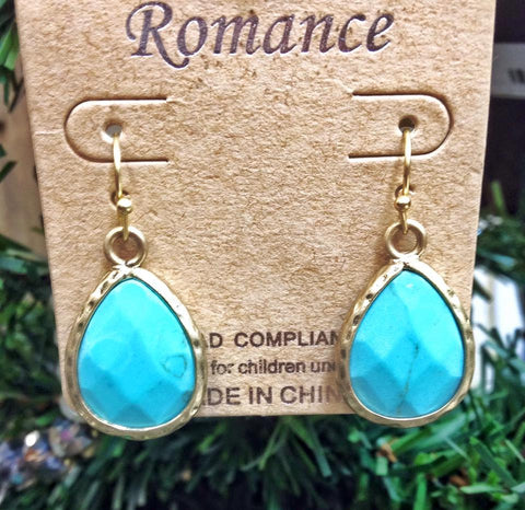 romance turquoise/gold earrings