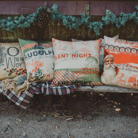 Vintage Christmas Pillow Collection