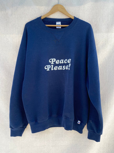 PEACE PLEASE! RUSSELL BRAND CREW NECK