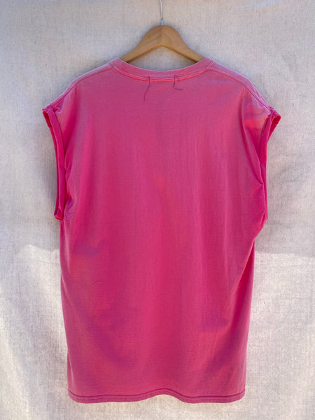 ENTIRE BACK VIEW OF MUSCLE TEE IN FADED PINK
