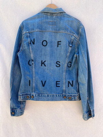 REWORKED NOFUCKSGIVEN LEVI'S TRUCKER JACKET