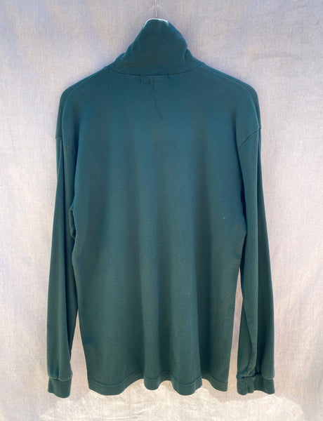 BACK VIEW OF TURTLE NECK WITH LONG SLEEVES.