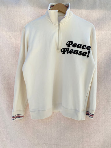 PEACE PLEASE! VINTAGE HALF ZIP PULLOVER