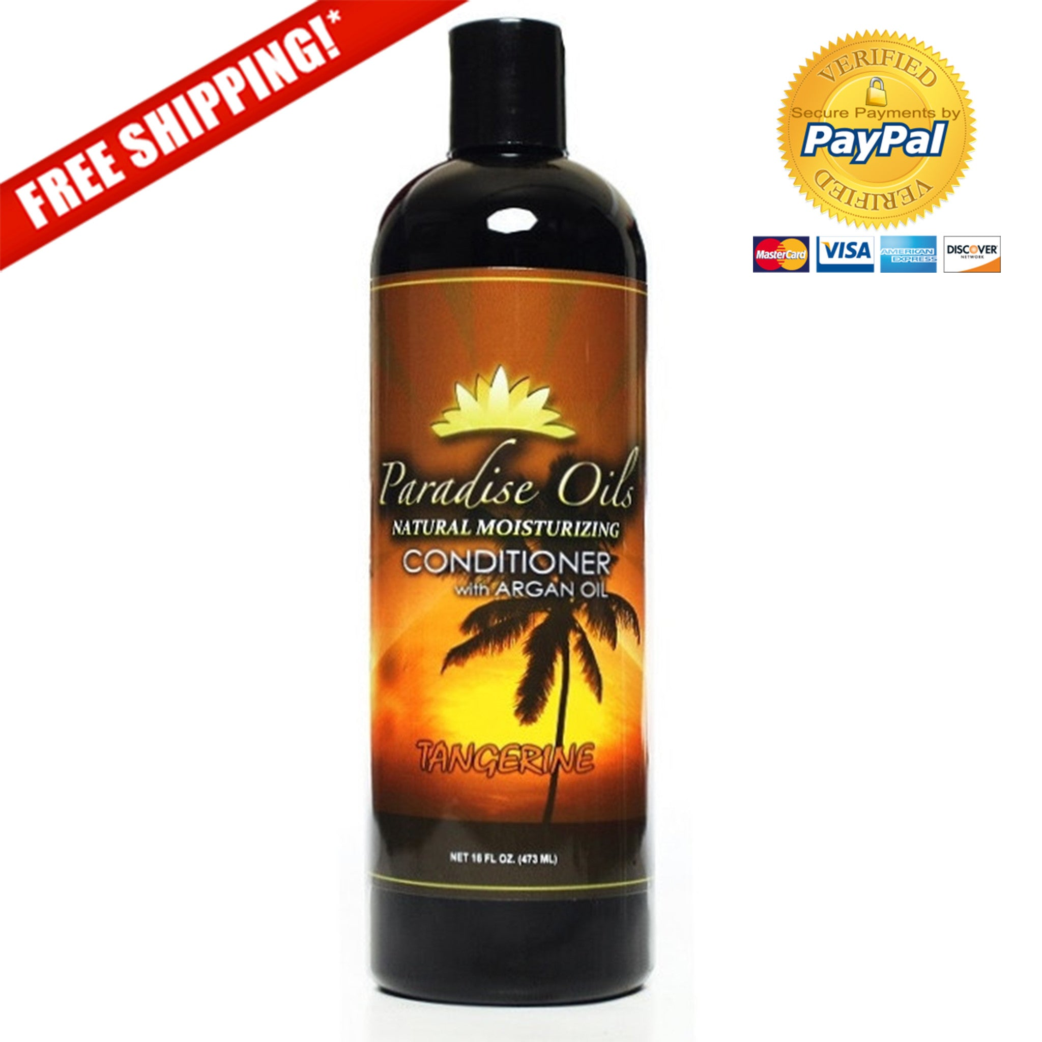 Paradise Oils Natural Moisturizing Conditioner - Tangerine