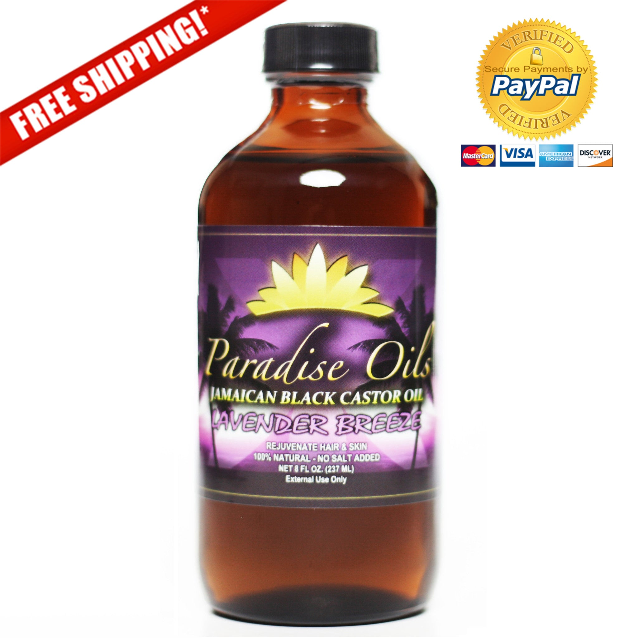 Paradise Oils Jamaican Black Castor Oil - Lavender Breeze