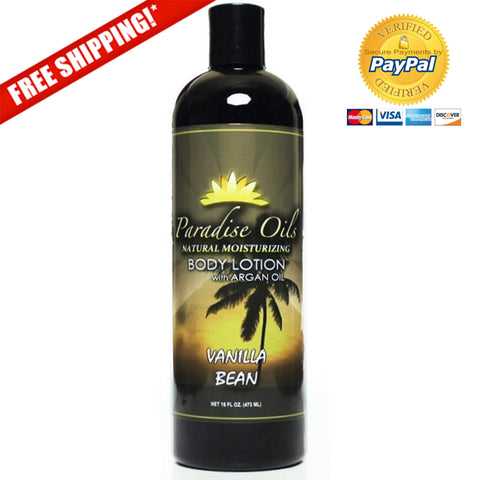 Paradise Oils Natural Moisturizing Body Lotion - Vanilla Bean