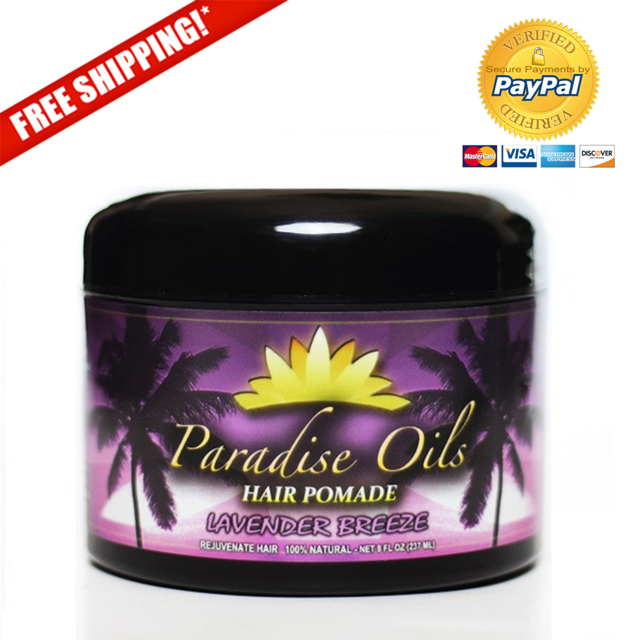 Paradise Oils Organic Hair Pomade - Lavender Breeze