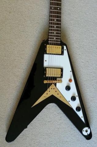 Vintage VV60B Black Flying V (CLEARANCE!)