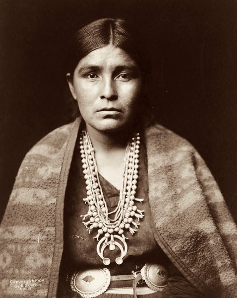 Portrait of a Navajo Woman, Edward Curtis, ca. 1904
