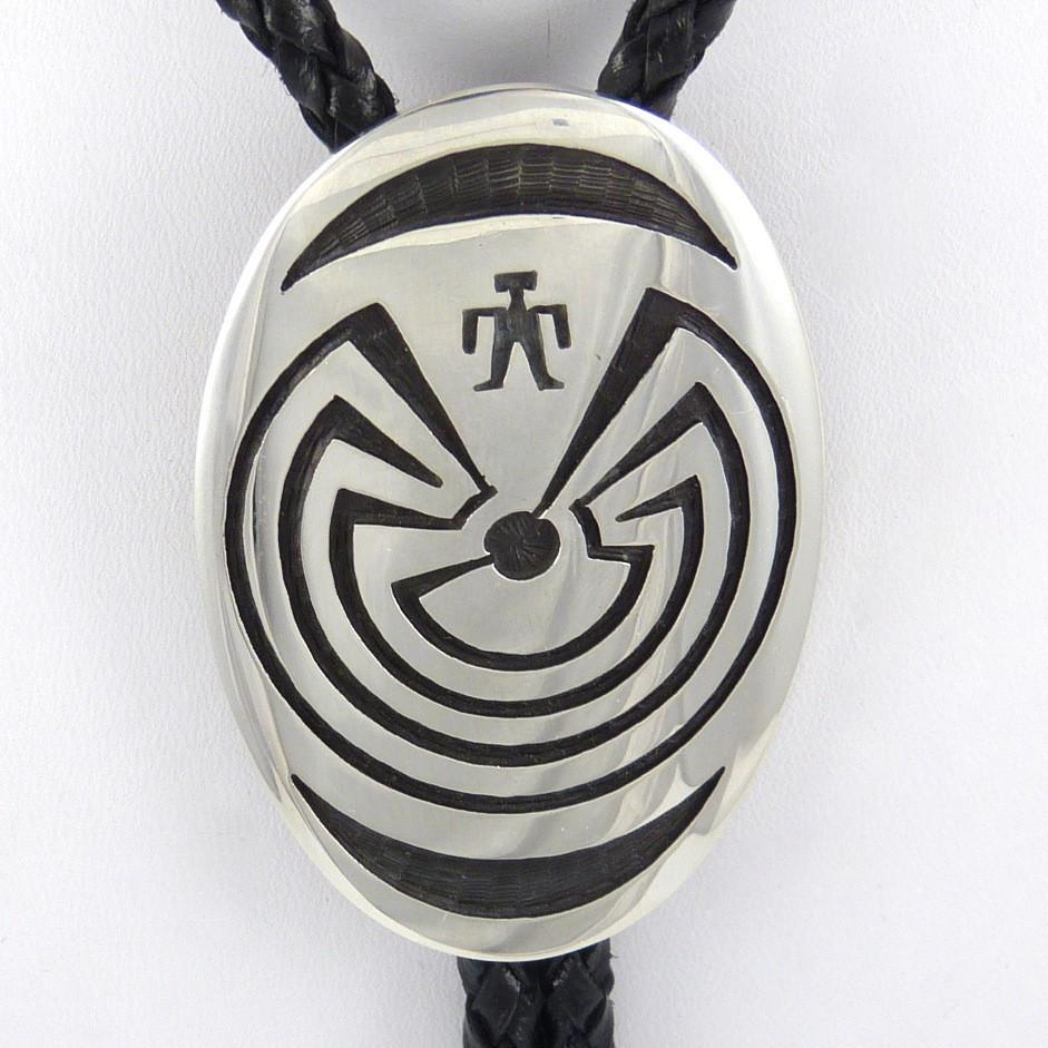 Man in the Maze Overlay Bola Tie - Jewelry - Anderson Koinva - 1