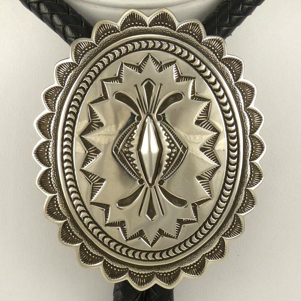 Stamped Silver Bola Tie - Jewelry - Thomas Curtis - 1