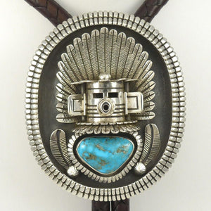 Bisbee Turquoise Bola Tie - Jewelry - Toby Henderson - 1