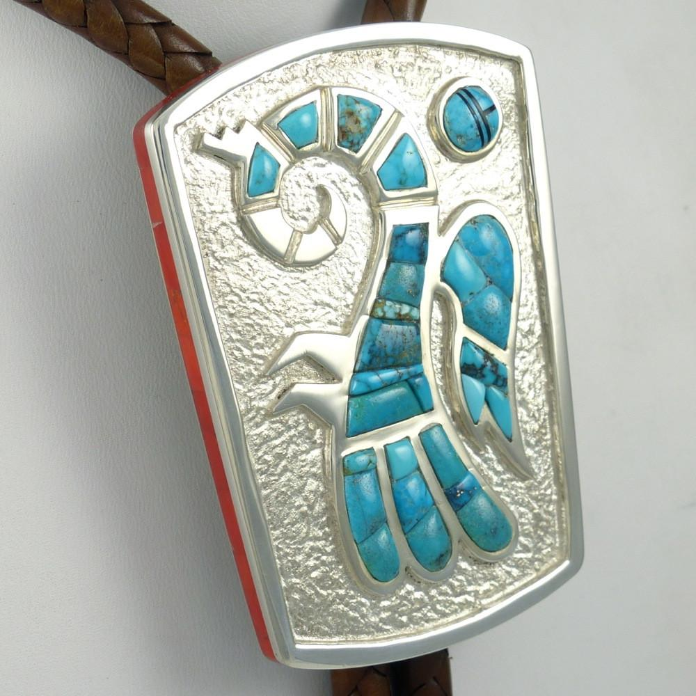 Lone Mountain Turquoise Bola Tie - Jewelry - Michael Perry - 1