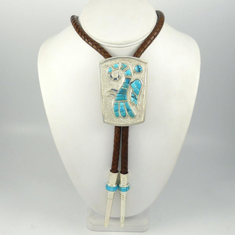 Lone Mountain Turquoise Bola Tie - Jewelry - Michael Perry - 2