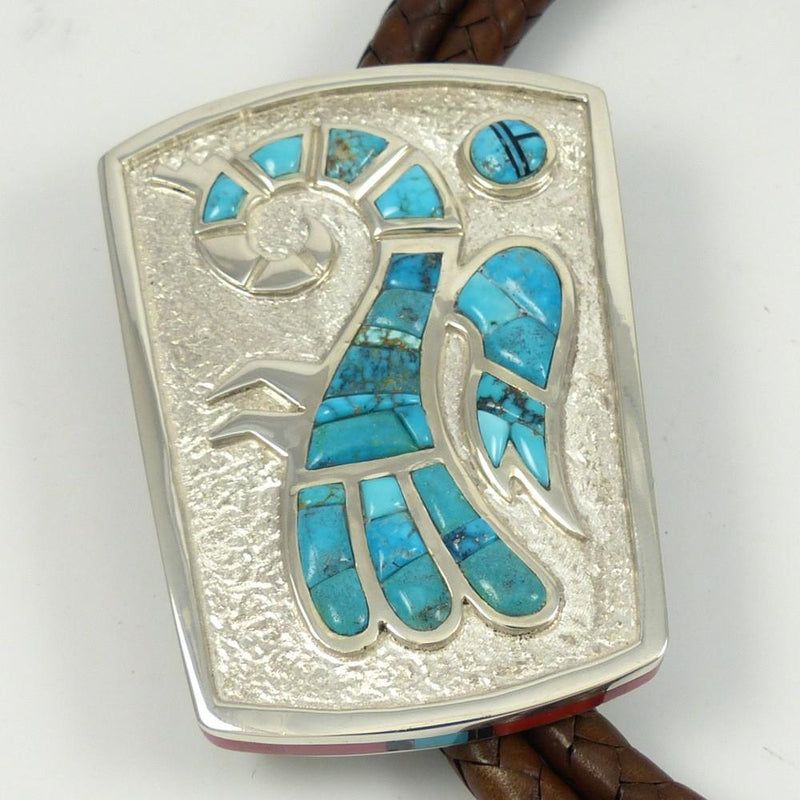 Lone Mountain Turquoise Bola Tie - Jewelry - Michael Perry - 8