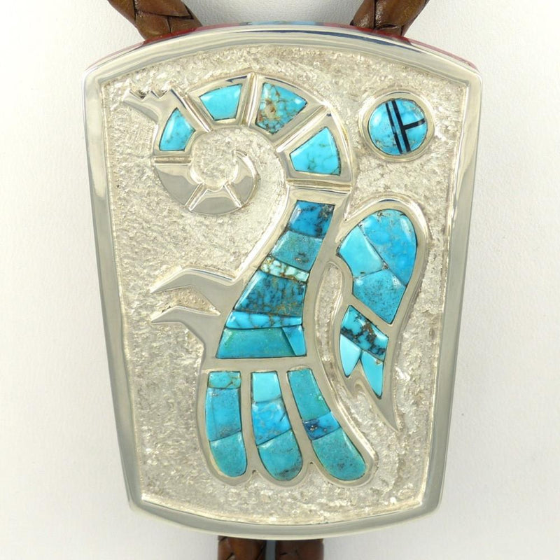 Lone Mountain Turquoise Bola Tie - Jewelry - Michael Perry - 3