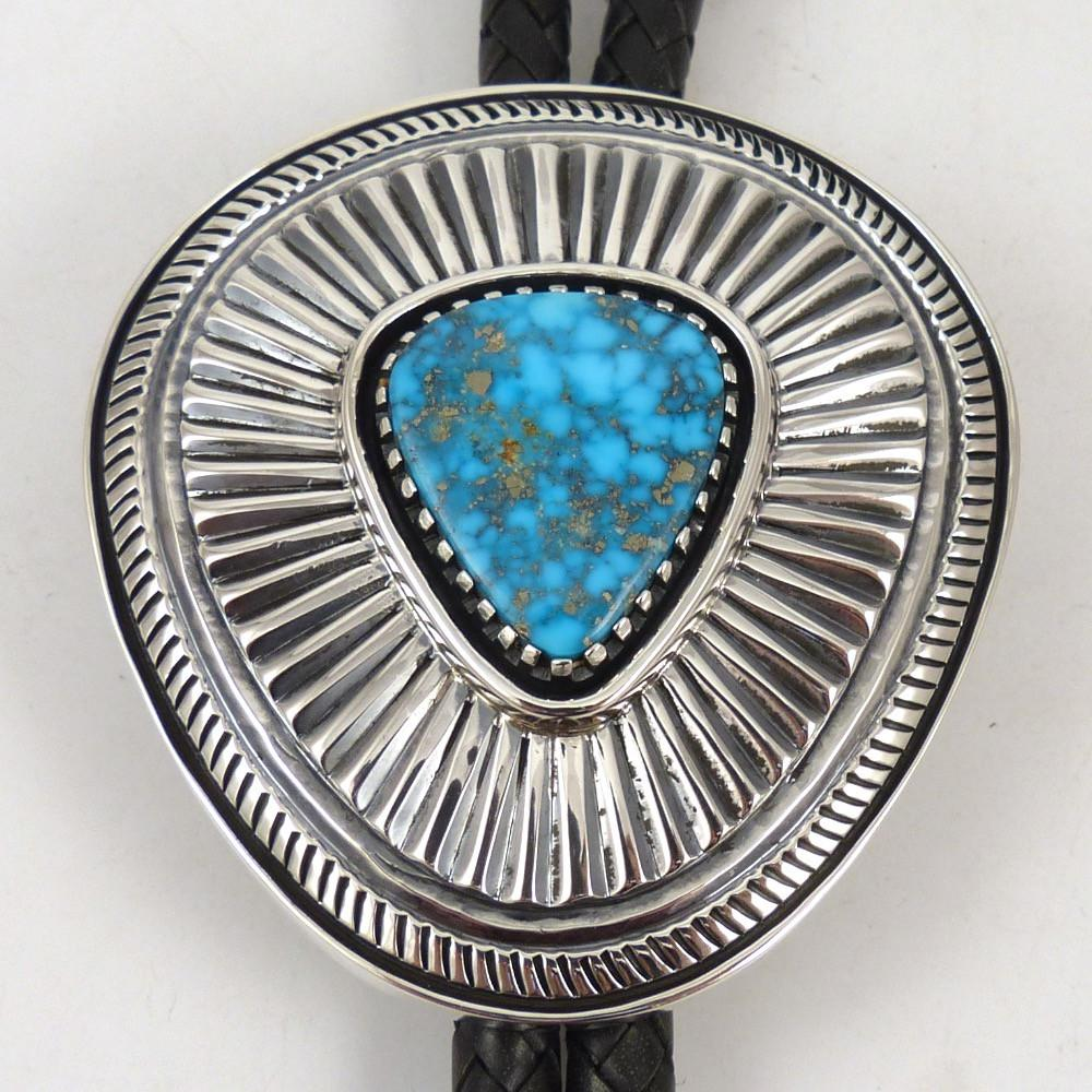 Kingman Turquoise Bola Tie - Jewelry - Allison Lee - 1