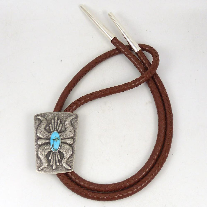 Kingman Turquoise Bola Tie - Jewelry - Lee Begay - 2