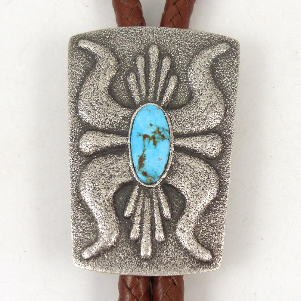 Kingman Turquoise Bola Tie - Jewelry - Lee Begay - 1