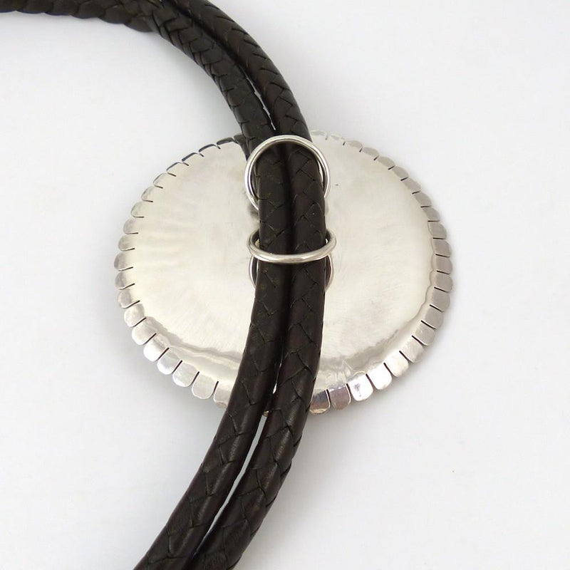 Silver Sunface Bola Tie - Jewelry - Toby Henderson - 3