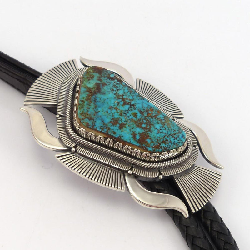 Pilot Mountain Turquoise Bola Tie - Jewelry - Curtis Pete - 2