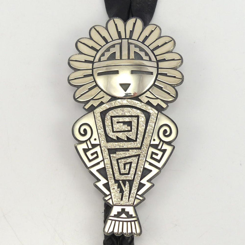 Sunface Bola Tie, Ruben Saufkie, Jewelry, Garland's Indian Jewelry