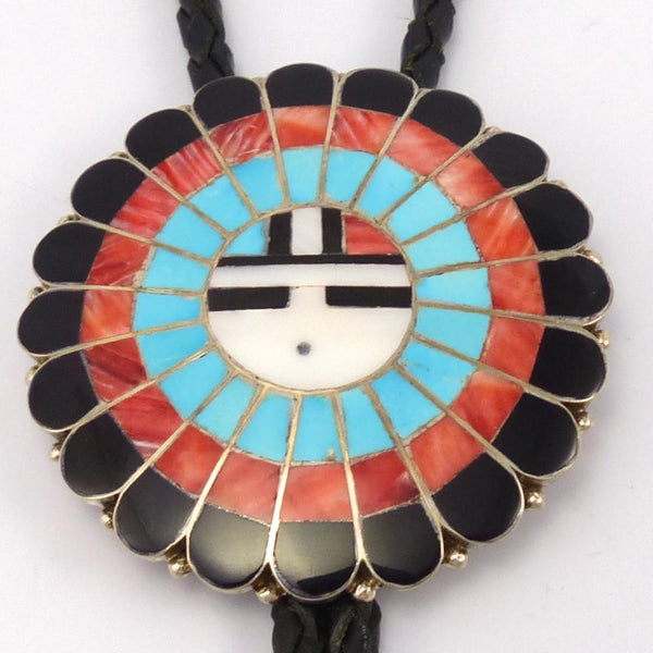Sunface Bola Tie, Jose and Dora Massie, Jewelry, Garland's Indian Jewelry
