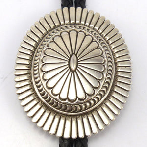 Stamped Silver Bola Tie, Thomas Curtis, Jewelry, Garland's Indian Jewelry