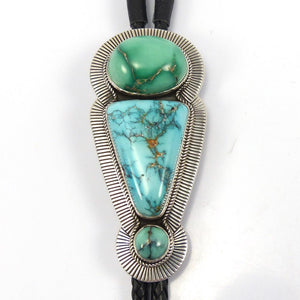 Turquoise Bola Tie, Albert Jake and Bruce Eckhardt, Jewelry, Garland's Indian Jewelry