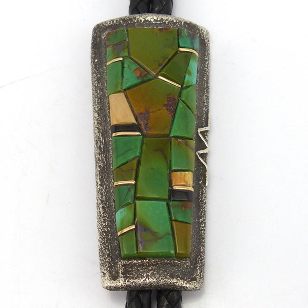 Inlay Bola Tie, Wes Willie, Jewelry, Garland's Indian Jewelry