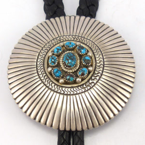 Indian Mountain Turquoise Bola Tie, Toby Henderson, Jewelry, Garland's Indian Jewelry