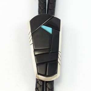 Black Jade and Turquoise Bola Tie