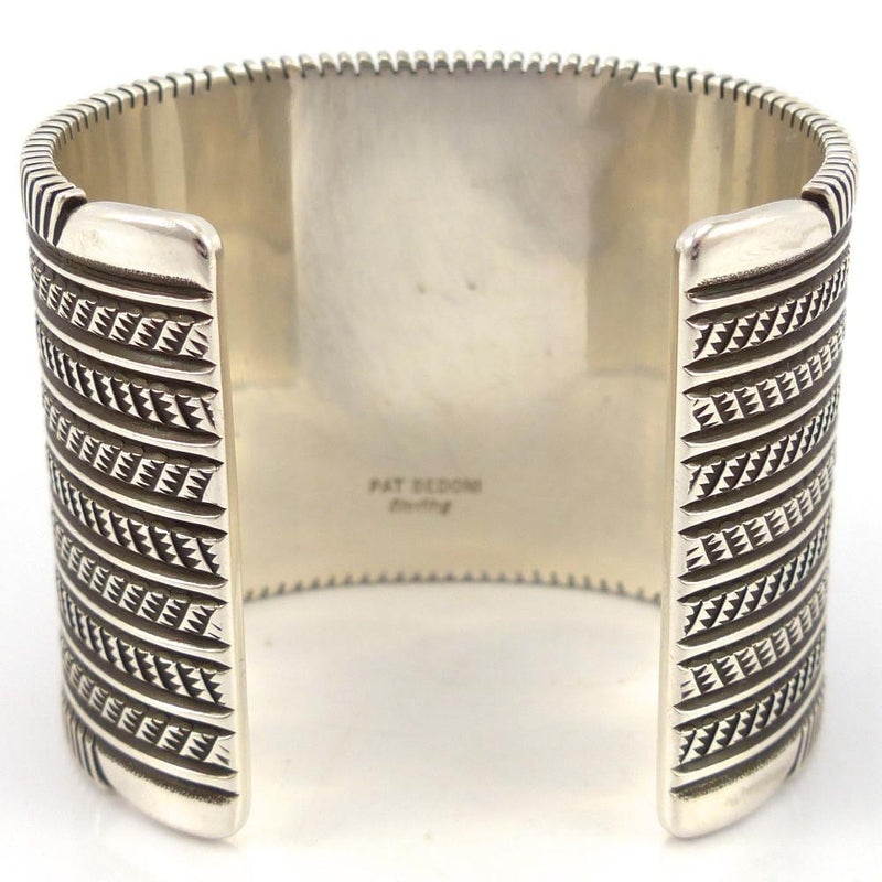 Stamped Silver Cuff, Pat Bedonie, Jewelry, Garland's Indian Jewelry