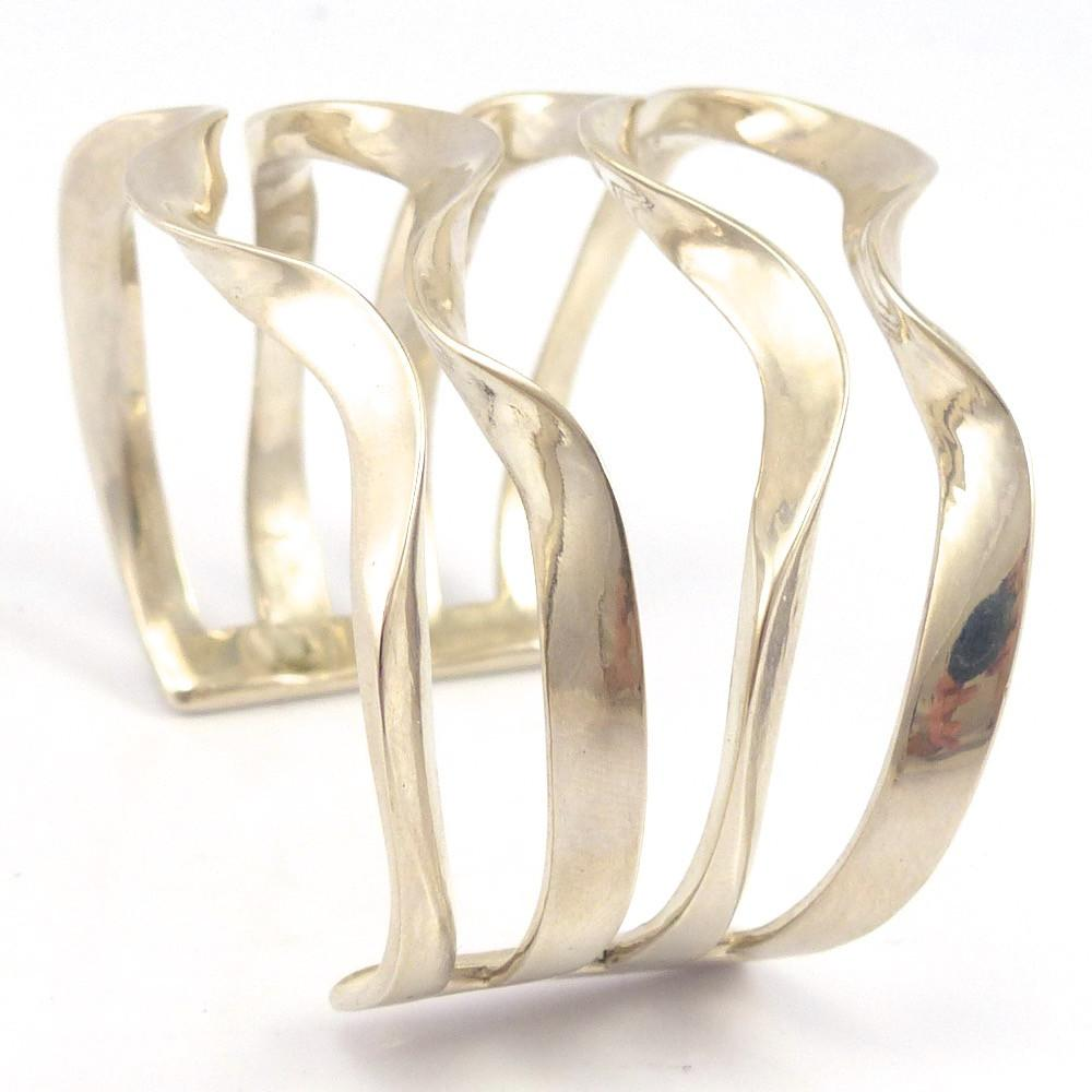 Silver Wave Bracelet, Melanie and Michael Lente, Jewelry, Garland's Indian Jewelry