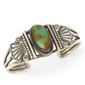 Kings Manassa Turquoise Cuff - Jewelry - Leon Martinez - 1