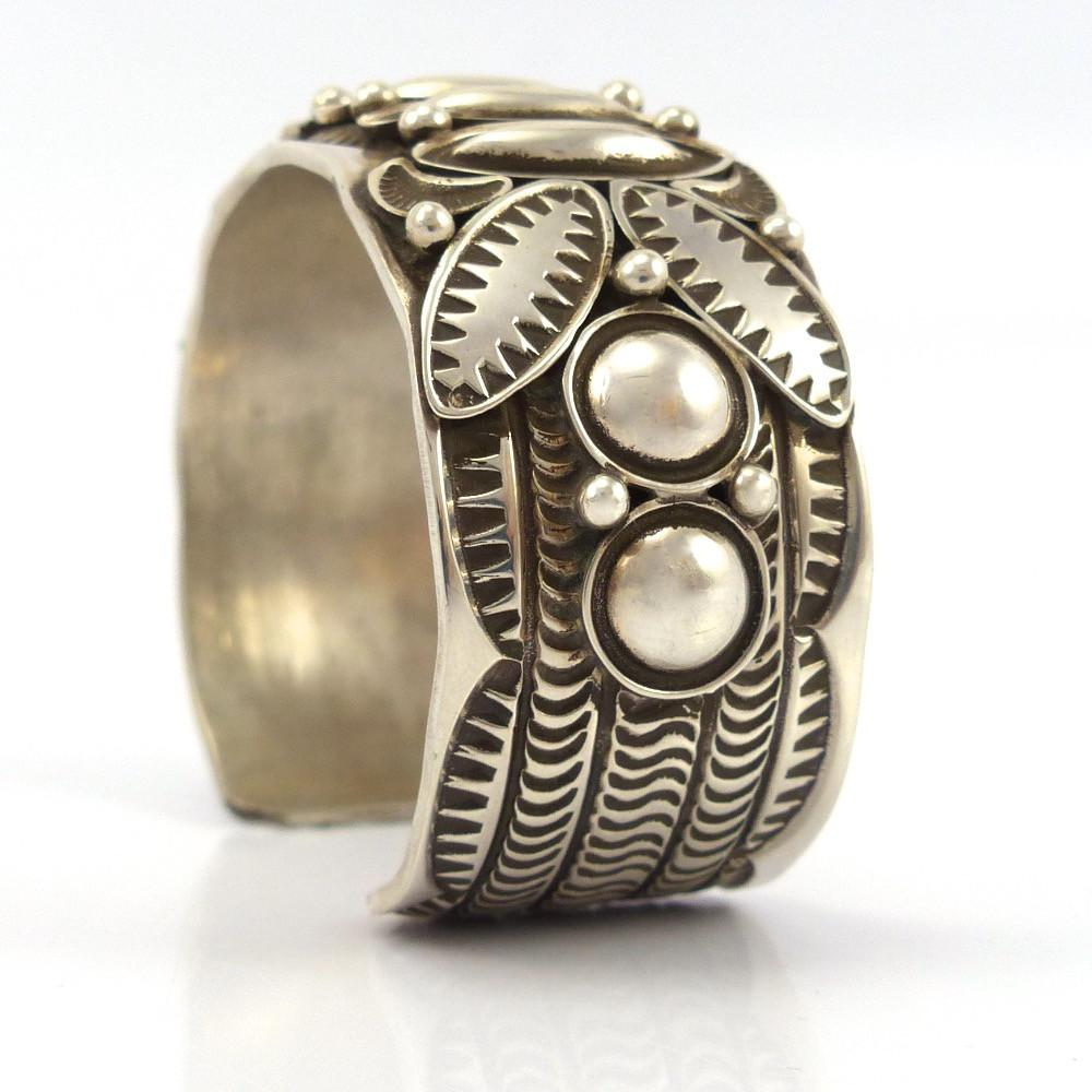 Stamped Silver Cuff - Jewelry - Alex Sanchez - 1