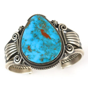 Pilot Mountain Turquoise Cuff - Jewelry - Steve Arviso - 1