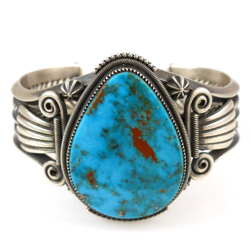 Pilot Mountain Turquoise Cuff - Jewelry - Steve Arviso - 2