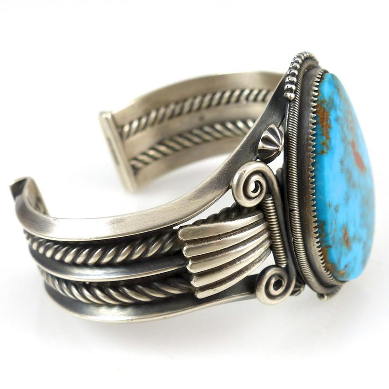 Pilot Mountain Turquoise Cuff - Jewelry - Steve Arviso - 3