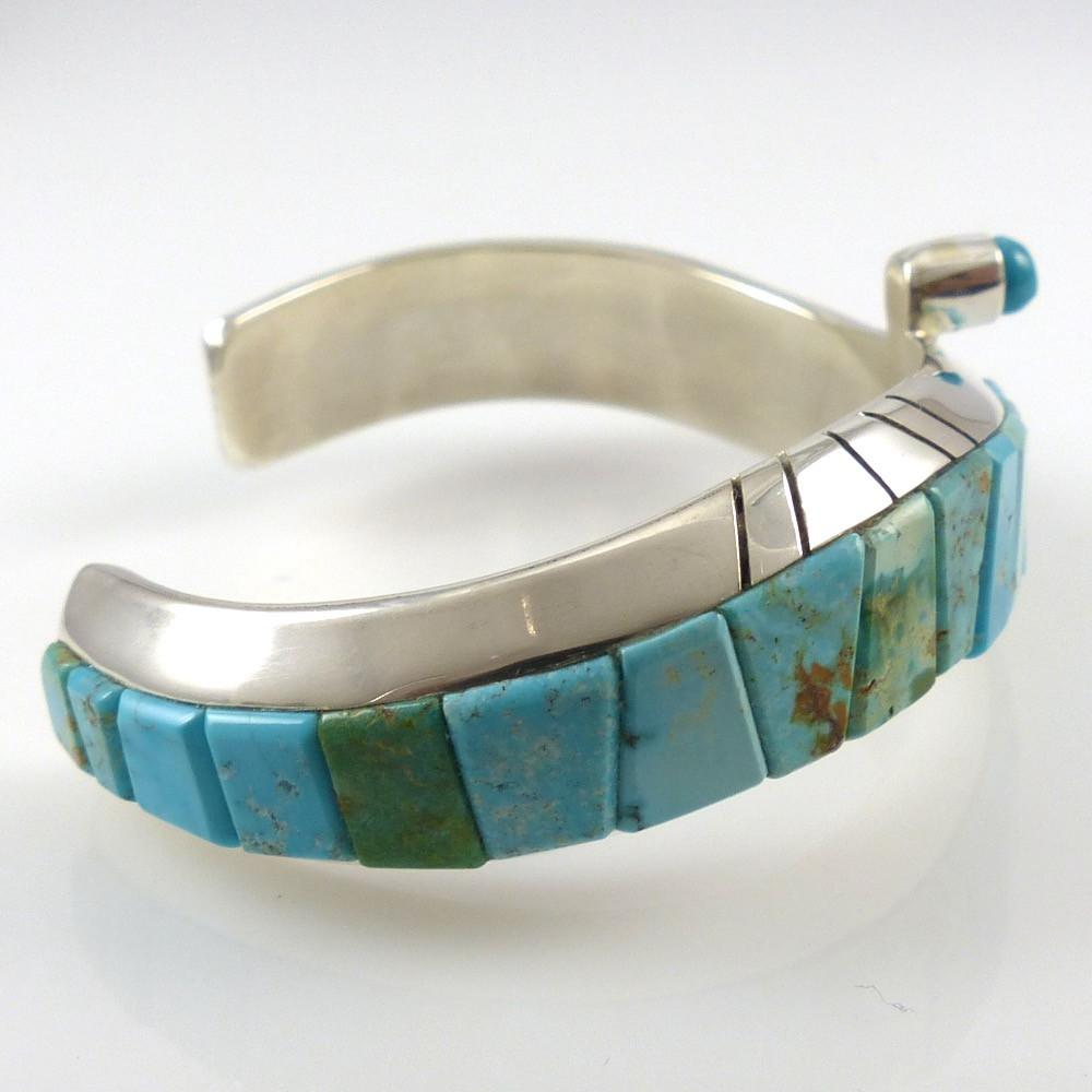 Turquoise Inlay Cuff - Jewelry - Michael Dukepoo - 1
