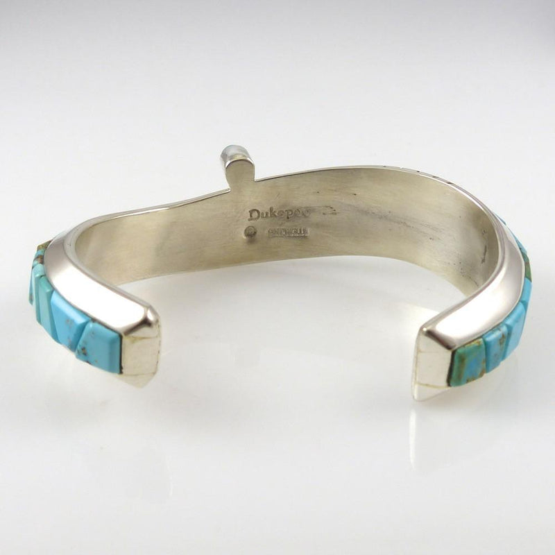 Turquoise Inlay Cuff - Jewelry - Michael Dukepoo - 3
