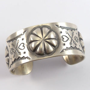 Stamped Silver Cuff - Jewelry - Clarissa and Vernon Hale - 1